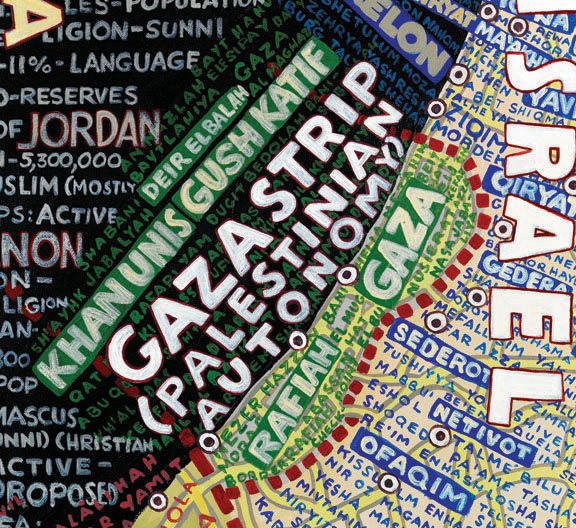 Map of Israel by Paula Scher, Stendhal Gallery