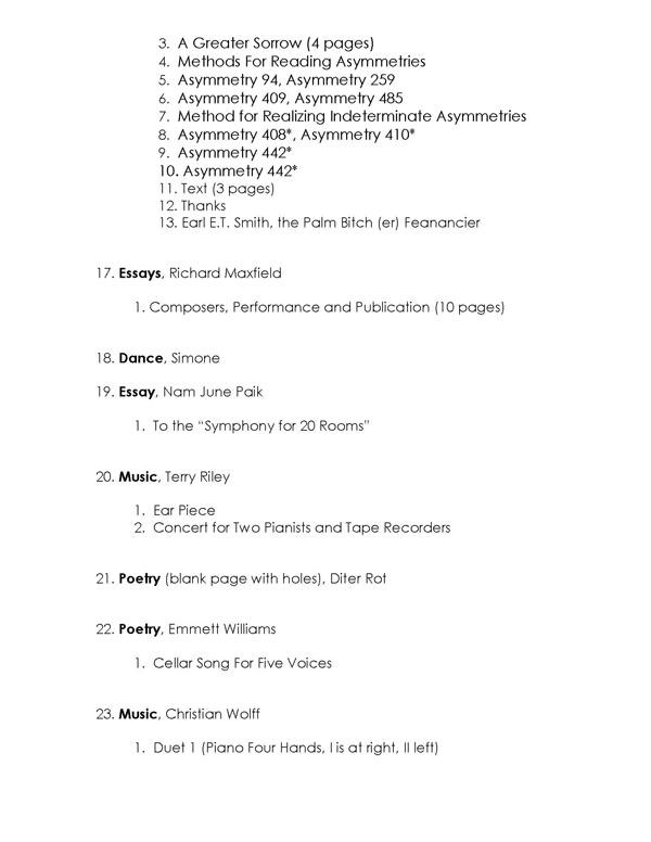 Exhibition Checklist - George Maciunas Foundation Inc